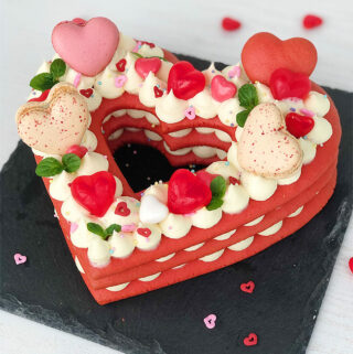Heart Shaped Cookie Cake