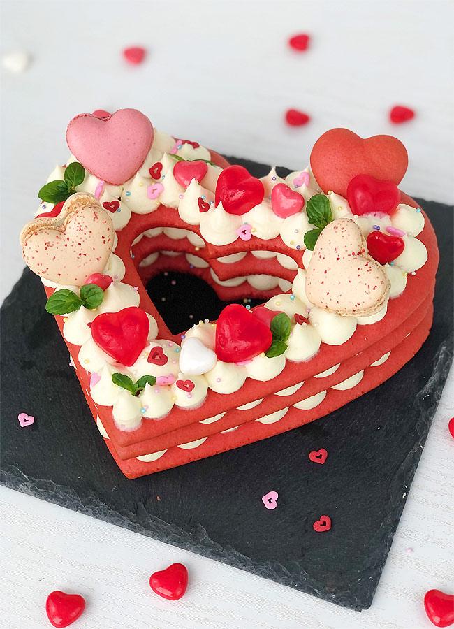 Heart Shaped Cookie Cake