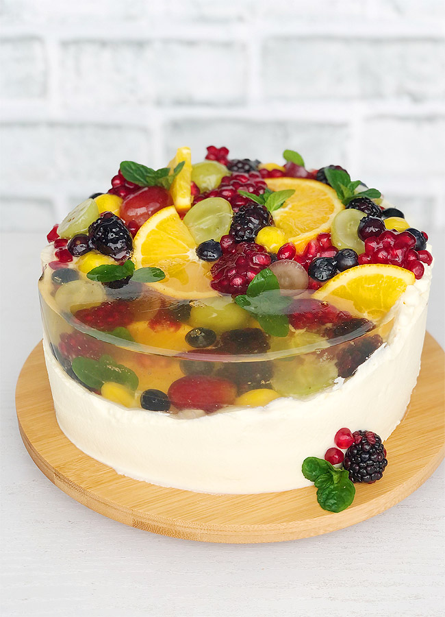 Jelly Fruit Cake