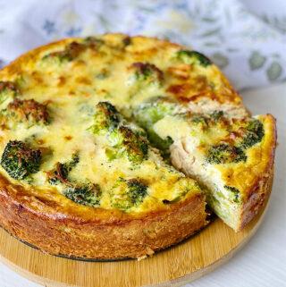 Broccoli and Salmon Quiche