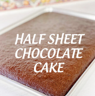 Half Sheet Chocolate Cake