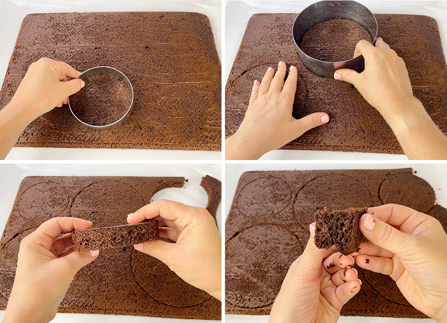 Cutting the into cake layers