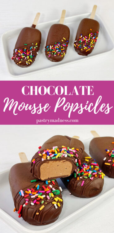 Chocolate Mousse Popsicles Pinterest Pin